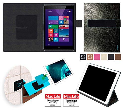 reboon Hülle für Hewlett Packard Pro Tablet 608 Tasche Cover Case Bumper   in Schwarz Leder   Testsieger
