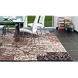 Sitap Alfombra Moderno Diseño Flores (gradiazioni de Beige y Marrón Laguna 63020 – 4343