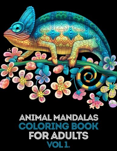 Animal Mandalas Adult Coloring Book: Mind calming and stress relief Adult Coloring Book with extra pages (Mandala pattern within Flower, Love, Cake and Ice cream designs)