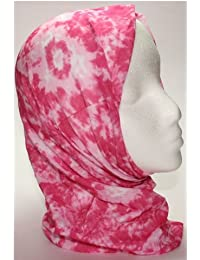 TC-Accessories PINK TIE DYE 12 in 1 snood tube scarf