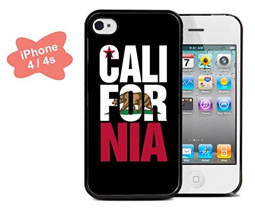 Coque silicone BUMPER souple IPHONE 4/4s - California californie motif 4 DESIGN case+ Film de protection OFFERT