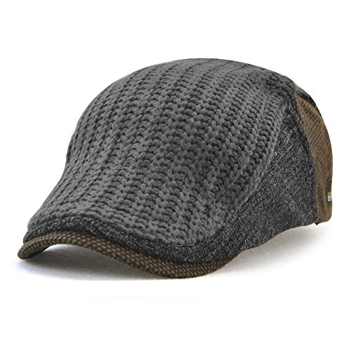 Nameblue Cappelli Donna Uomo Invernali Cappellini Visiera Curva Cappello  Trucker Lana Vintage Grigio 632628957eea