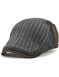 Nameblue Men s Cotton Flat Cap Newsboy Ivy Irish Cabbie Scally Cap Cabbie  Driving Caps Hats E91 e199c6bde7a9