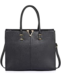 701ec27b7e LeahWard Women s Quality Faux Leather Handbags Tote Bags Shoulder Bag For  School Holiday 319