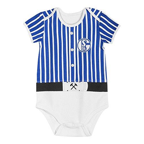 FC Schalke 04 Glück auf Baby Body (62, Blau/weiß)
