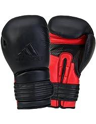 Adidas Gant de boxe de bovin hybride Adipbg300Sports Combat d'entraînement Noir/rouge