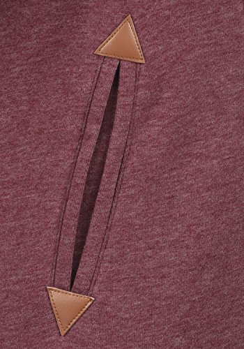 DESIRES Vicky Zip-Hood Damen Sweatjacke Kapuzenjacke Hoodie Mit Kapuze Fleece-Innenseite Und Cross-Over-Kragen, Größe:XS, Farbe:Wine Red Melange (8985) - 4