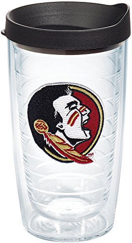 Florida State Head (Tervis 1144458 Florida State University Seminole Head Emblem Individual Tumbler with Black lid, 16 oz, Clear by Tervis)