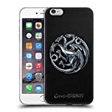 Head Case Designs Offizielle HBO Game of Thrones Silber Targaryen Sigils Soft Gel Hülle für Apple iPhone 6 Plus / 6s Plus