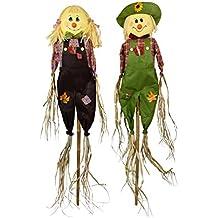 Verde Jem gsstake-2s par de espantapájaros jardín decoración ...