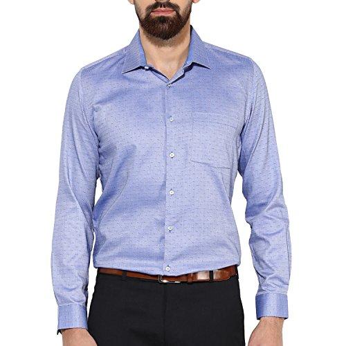 Turtle Men's Blue Structured Slim Fit Formal Shirt