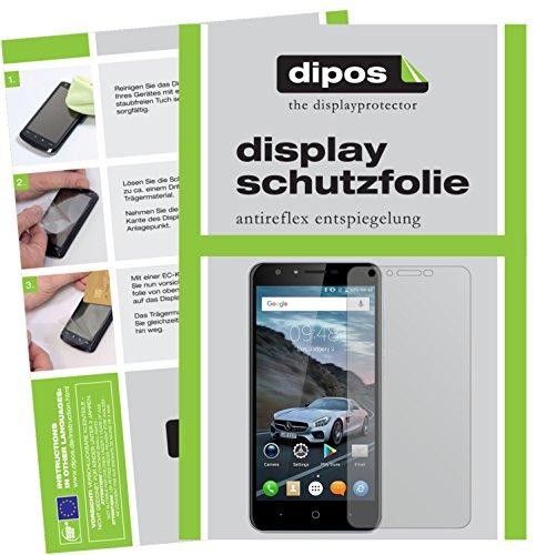 dipos I 2X Schutzfolie matt passend für Doogee Y6C Folie Displayschutzfolie