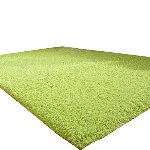L&Y tapis Beau tapis épais salon table basse table carré 140 * 200 cm cryptage Evergreen Champagne Non-Slip Mat (Couleur : Vert, taille : 140 * 200)