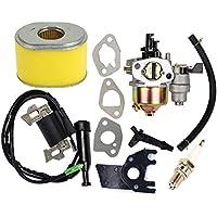 OuyFilters - Carburador de Repuesto con Bobina de Encendido y Filtro de Aire para Motor de Motor Honda Gx160 Gx200 5.5HP 6HP