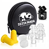 Siesta Panda 12-Pack Ear Plugs Set [ 4 Noise Cancelling, 4 Silicone Putty