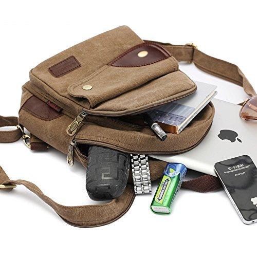 Outdoor Multipurpose Braun Schultasche Daypacks WTUS Rucksack Neu Damen Für Sports Freizeit 7IIa8Px
