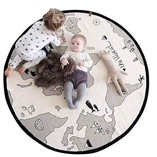 Alfombra de juegos para bebé, lona suave de algodón para bebé, mapa