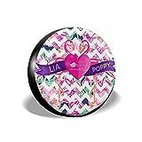 Vbnbvn Housses de pneus Flamingo Couple Love Pattern Tire Cover Polyester Universal...
