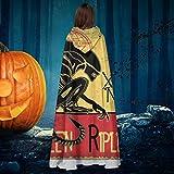 AISFGBJ Tournee Du Xenomorphe Noir D Ellen Ripley Alien Unisex Natale Halloween Strega Cavaliere Vestaglia con Cappuccio vampiri Costume Cosplay
