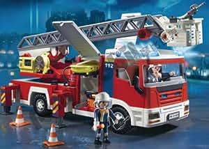 Playmobil - 3182 - Pompiers -  Pompier + Camion grande echelle