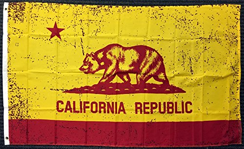 3x5 Red and Gold California State Flag Republic CA Outdoor Garden Banner USA New -