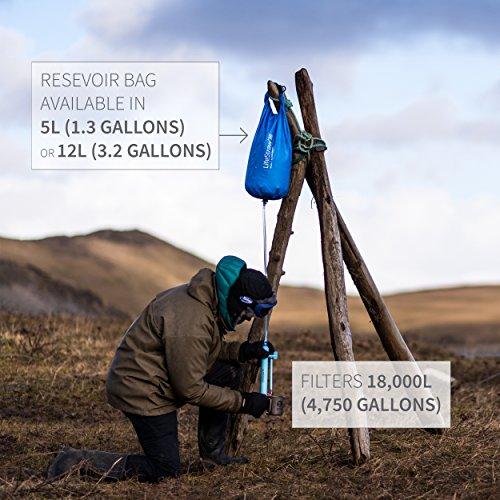 LifeStraw Mission  Kompakter Wasserreiniger mit Hohem Volumen (12 Liter) Filter, Blau, 12 liters - 3