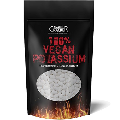 KALIUM - 100{b7fbd635a0af9973f0392ce3dc5ee37349ac2e33e8f6f69bfa204e4b6831e7c9} Vegan Potassium Gluconat, 150 Tabletten, Hochdosiert 643mg/Tablette, Diät, Entschlackung, Entgiftung, Entwässerung