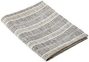 linenme serviette de bain 65x130 cm en lin rayures noir cuisine maison. Black Bedroom Furniture Sets. Home Design Ideas