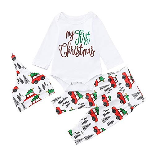 K-youth Conjuntos Bebe Niño Navidad My First Christmas Body Bebe Manga  Larga Monos Mameluco 23777baff69
