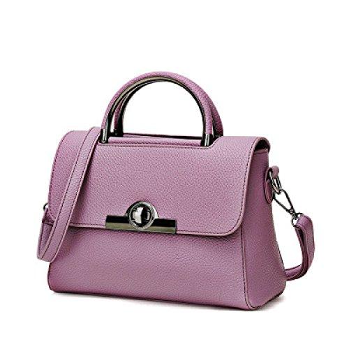 2017 Nuove Serrature Borse Moda Spalla Messenger Portatili Signore Borsa Piccola Purple