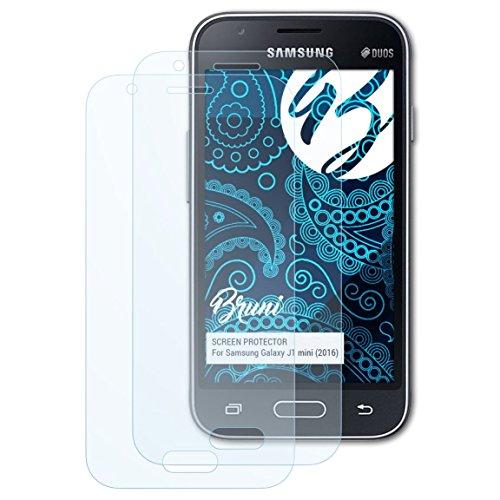 Bruni Schutzfolie kompatibel mit Samsung Galaxy J1 Mini (2016) / Galaxy J1 NXT Folie, glasklare Bildschirmschutzfolie (2X)