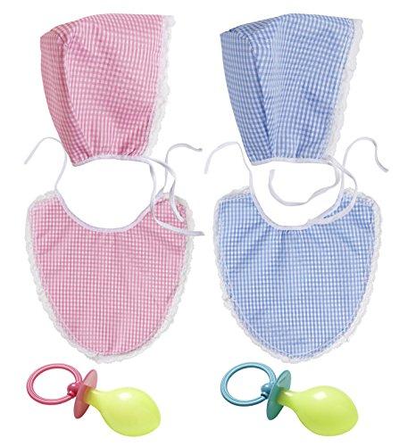 Panelize Baby-Set Kostüm mit Haube Latz und Schnuller Nuckel Verkleidung Erwachsene (Damen Baby Kostüm)