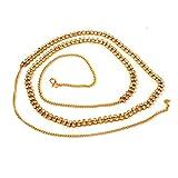 Accessher Glittering 2 Line Stone Waist ...