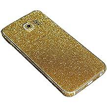 Para Samsung Galaxy, FAS1 Online con adhesivo brillo chispeante cuerpo película caso, dorado, S6 Edge G9250