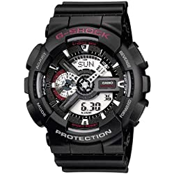 CASIO G-SHOCK GA-110-1AER - Reloj analógico y digital de cuarzo con correa de resina para hombre, color negro
