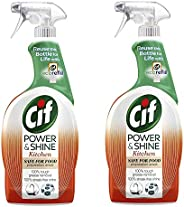 CIF Power & Shine Kitchen Cleaner 750ml with Orange and Tangerine Oil Pack
