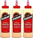 TITEBOND Colla per legno originale, di qualità professionale, 3 flaconi da 473 ml