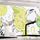 StickerProfis Küchenrückwand selbstklebend Premium LIMETTEN UND EIS 60 x 280cm DIY - Do It Yourself PVC Spritzschutz