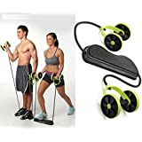 Panzl Home Total-Body Fitness Gym Revoflex Xtreme Abs Trainer Resistance Exercise New Sport Core Double AB Roller Exercise Equipment,Professional Ab Wheel Roller Supports,Abdominal Workout Machine