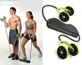 #6: Panzl Home Total-Body Fitness Gym Revoflex Xtreme Abs Trainer Resistance Exercise New Sport Core Double AB Roller Exercise Equipment,Professional Ab Wheel Roller Supports,Abdominal Workout Machine