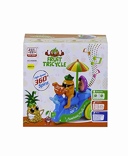 KIDZMELA Fruit tricycle  available at amazon for Rs.479