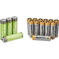 Amazon Basics AA-Batterien mit hoher Kapazität, wiederaufladbar, vorgeladen, 4 Stück (Aussehen kann variieren…