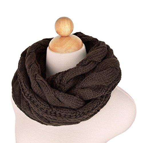 Luna et Margarita Coffee Circle maglia sciarpa della sciarpa di inverno Gancio Twist per gli uomini delle