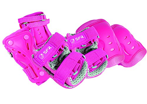 sfr-essential-knee-wrist-and-elbow-triple-pad-set-pink-small