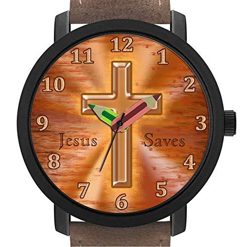 sene   Kinder   Geburtstag   Stilvolle niedliche Armbanduhr mit Bleistift Form Pointer Ornament Geschenk 106.Individuable christliche Uhren für Kinder mit Kreuz ()