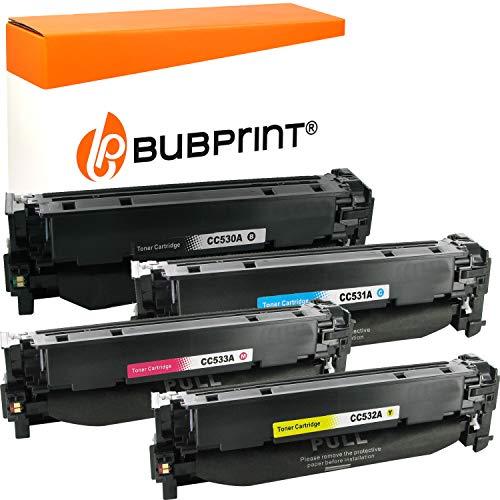 Bubprint 4 Toner kompatibel für HP 304A CC530A CC531A CC532A CC533A für Color Laserjet CM2320FXI CM2320NF CM2320N MFP CP2020 CP2025 CP2025N CP2025DN -