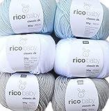 Woll-Set Babywolle Rico Baby Classic 6x50g #24, Weiche Wolle Zum Stricken und Häkeln