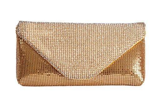 Oro Diamante e coperchio in rete busta frizione borsa