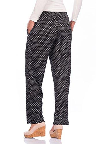 Damen Sommerhose Hose Strandhose (mehrere Farben) ID376 Schwarz