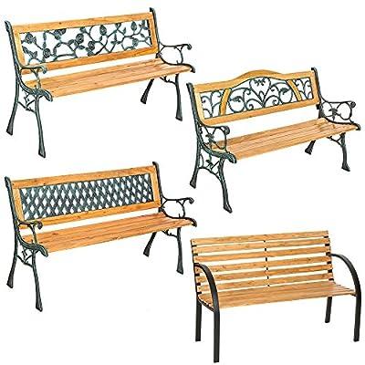TecTake Gartenbank Parkbank Holz - diverse Modelle -